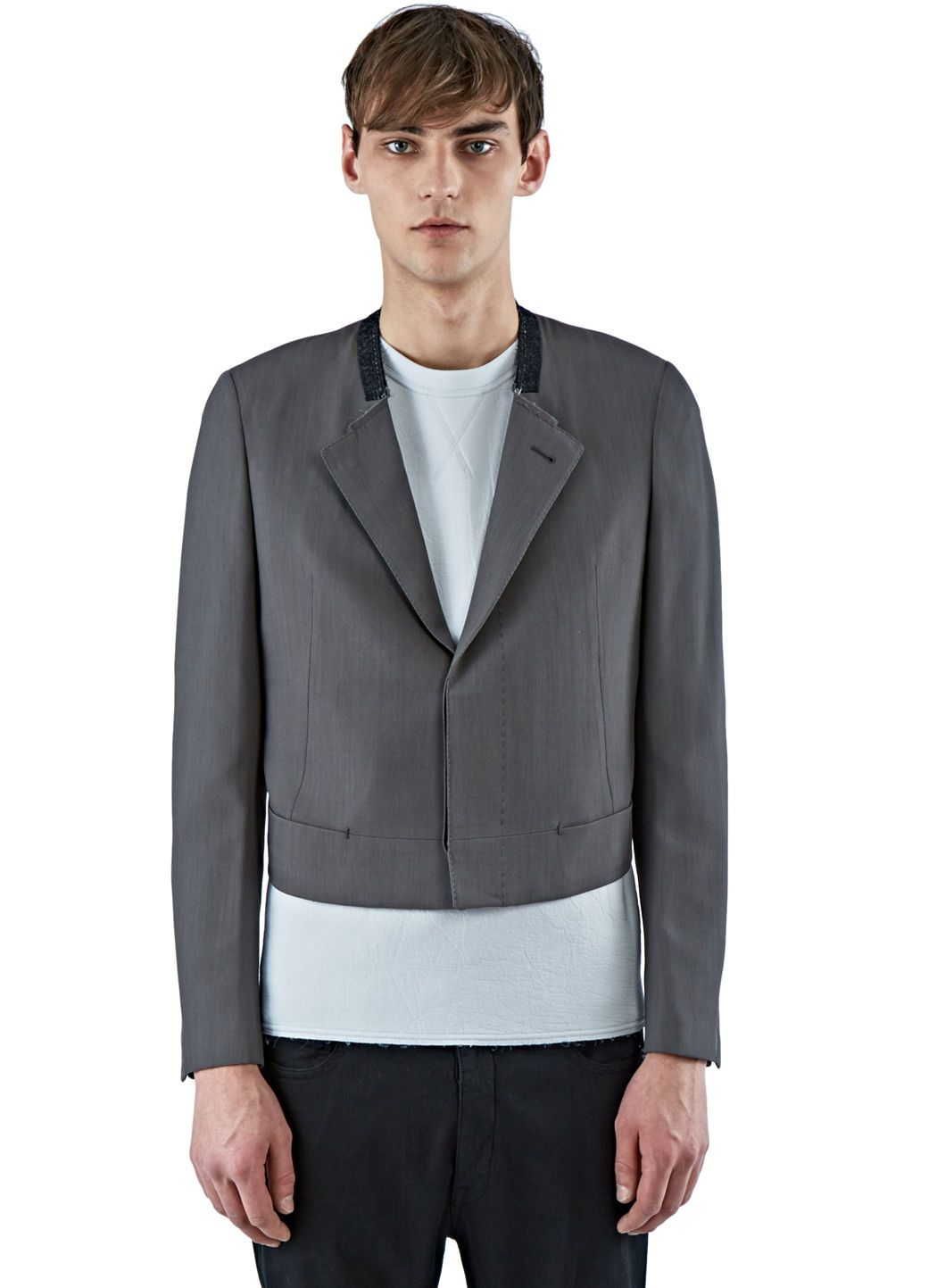692dc9f426c4 LANVIN Men S Cropped Tailored Jacket In Grey.  lanvin  cloth ...