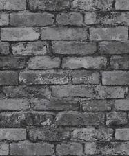 8de35bf9ba8db Silver Grey - Realistic - FD31286 - Rustic Brick - Fine Decor Wallpaper