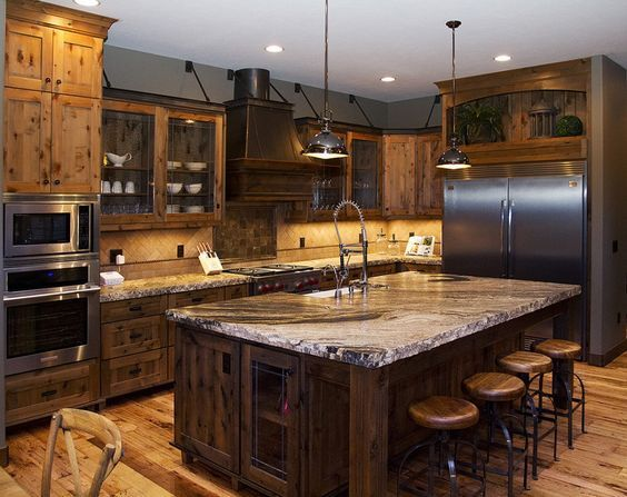 ideas remarkable extra large kitchen island from reclaimed wood ...
