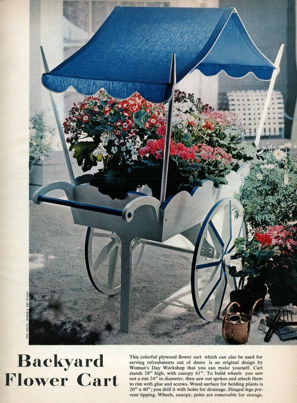 Backyard Decor A Flower Cart This Colorful Plywood Flower Cart Which Can Also Be