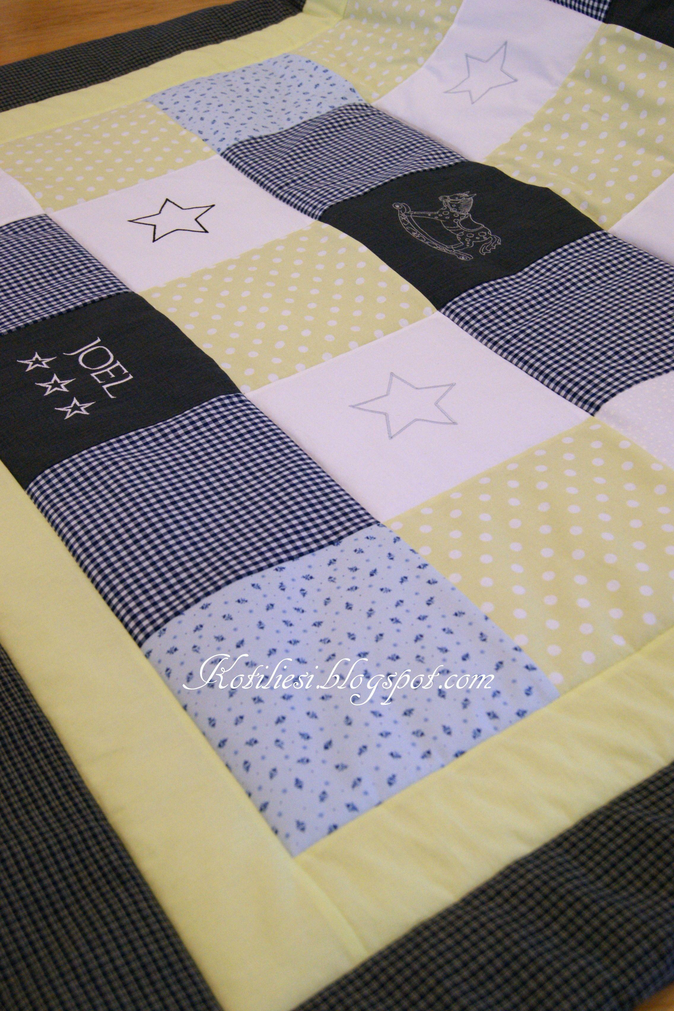 Baby boy Quilt   Kotiliesi.blogspot.com