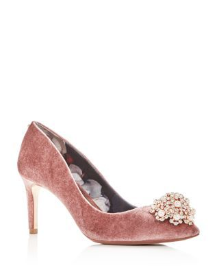 97e8dd55ca7 TED BAKER Women s Dahrlin Embellished Velvet Pointed Toe Pumps.  tedbaker   shoes