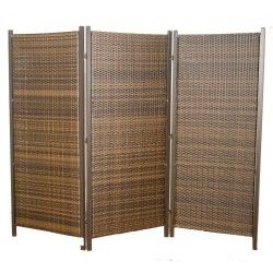 Folding Wicker Partition Screen - Outdoor Privacy Partition