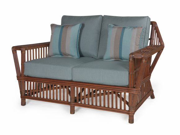 The Lodge Rattan Loveseat Wicker sofa, Rattan lounge