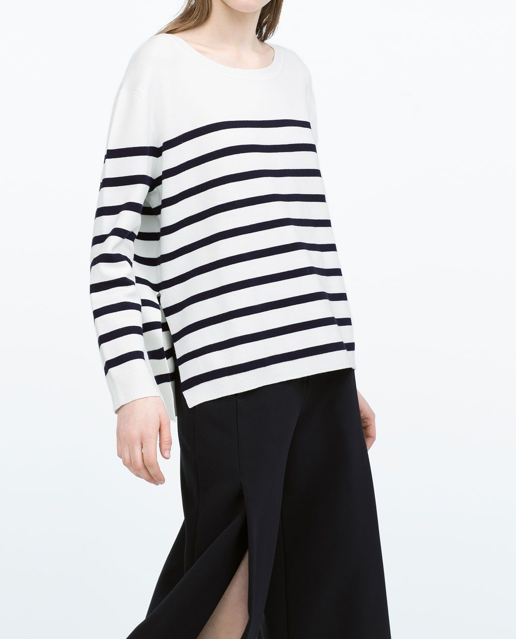 Image 4 of NAVY STRIPED SWEATER from Zara | zara sale list ...