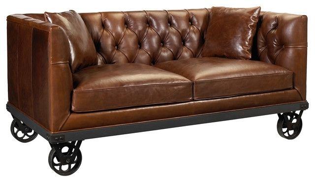 Schoner Tuft Braun Leder Sofa Braun Leder Getuftet Sofa Nobis