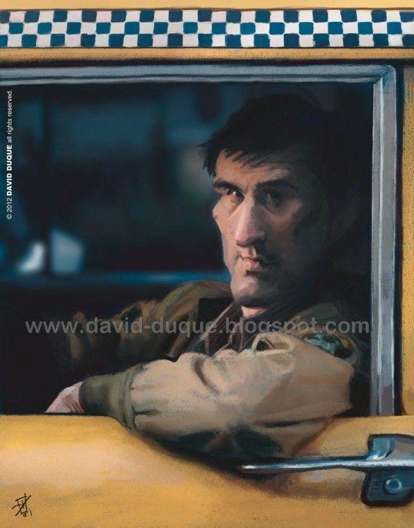 Caricatura de Robert De Niro (Taxi Driver)