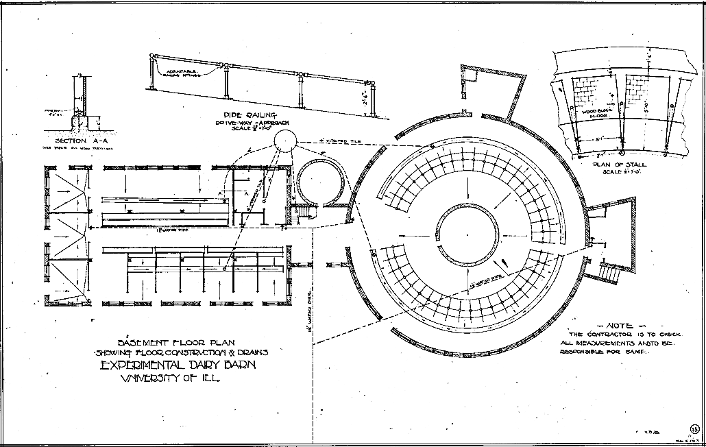 Experimental dairy barn floor plan from the university of for Dairy barn plans