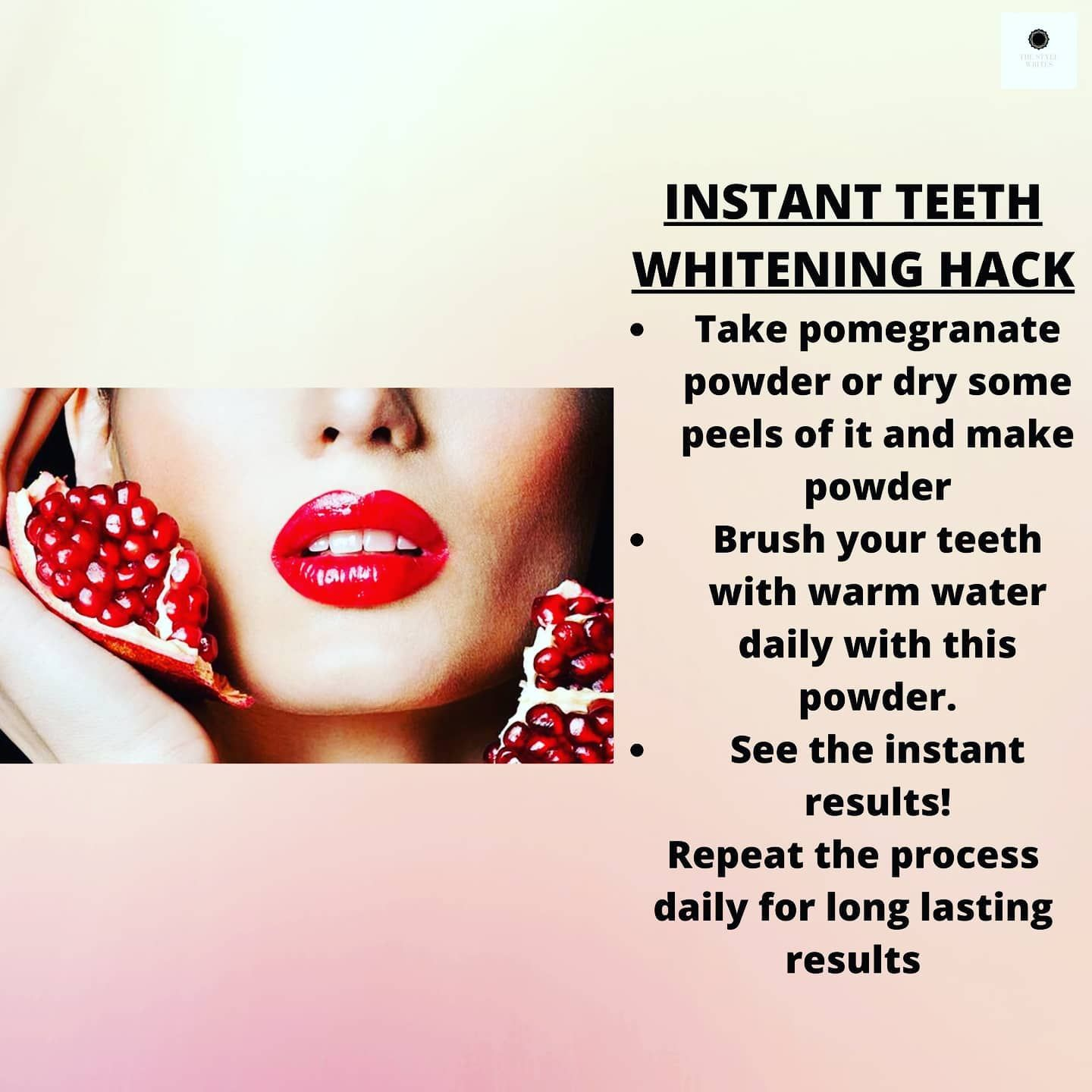 Even teeth whitening is a part of our routine!! #skinwhitening #skincare #teeth #teethwhitening #pomegranate #skincareremedies #skincalls #homeremedies