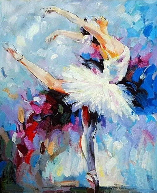Painting By Numbers Paint Ballet Dancer Diy Canvas Vettsy Dancers Art Dancer Painting Ballerina Art