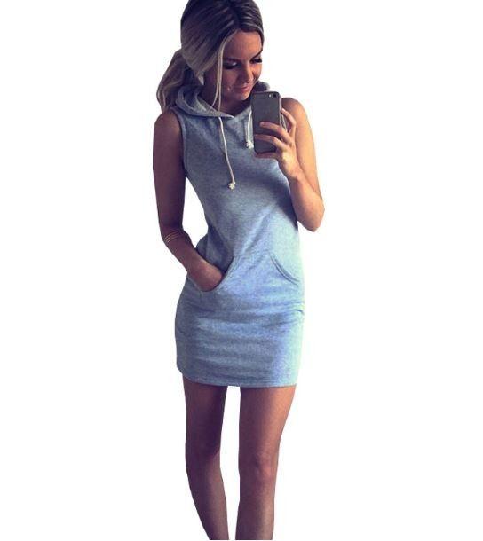 e64b91d37783 Dámské sportovní stylové šaty šedé – Velikost L Na tento produkt se  vztahuje nejen zajímavá sleva