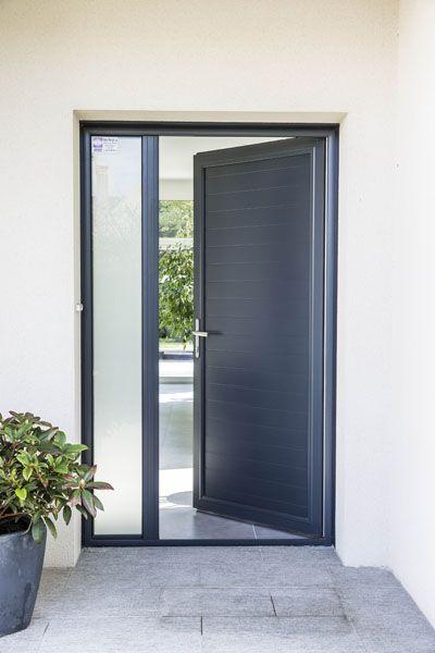 Porte d 39 entr e classique kline j ma porte d 39 entr e - Vitre pour porte d entree ...