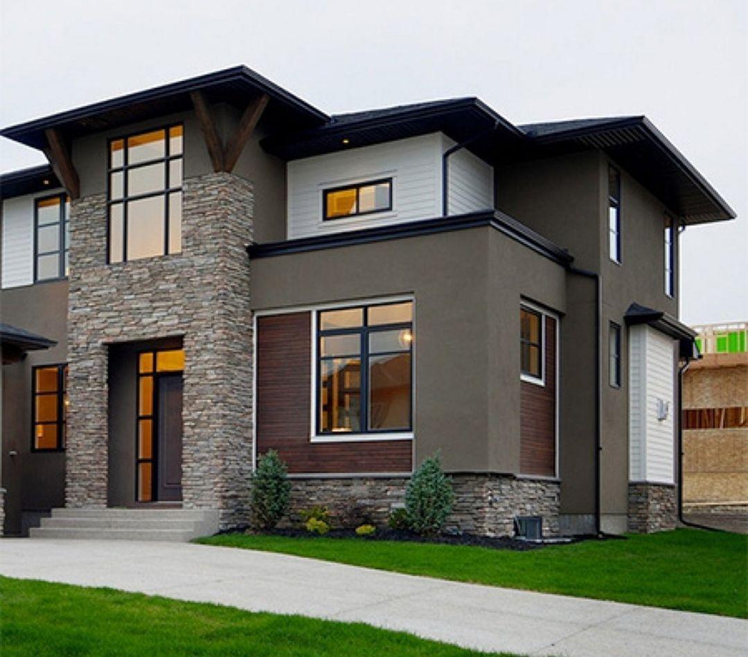 Modern Home Design Ideas Gray: 35 Stunning Modern Home Exterior Color Ideas