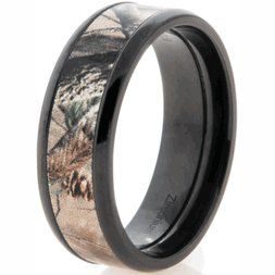 Black Zirconium Realtree Camo Wedding Ring Ap Band Anium Buzz