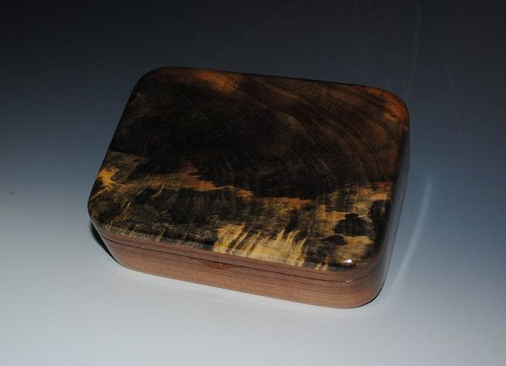 Handmade Wood Box  Buckeye Burl on Walnut by BurlWoodBox on Etsy, $38.00