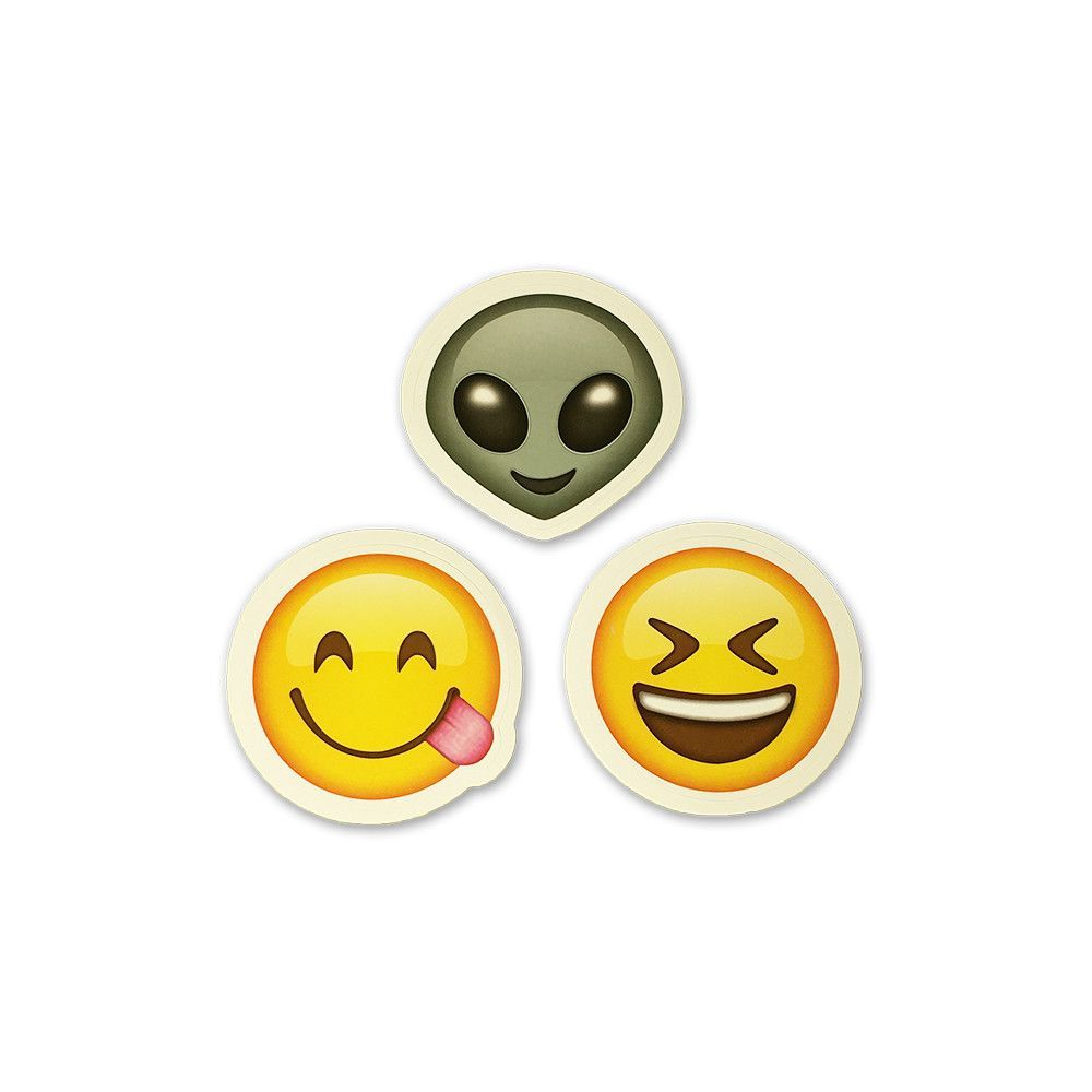 Alien face emoji meaning - 2 Emoji Stickers Alien Side Tongue Laughing Face