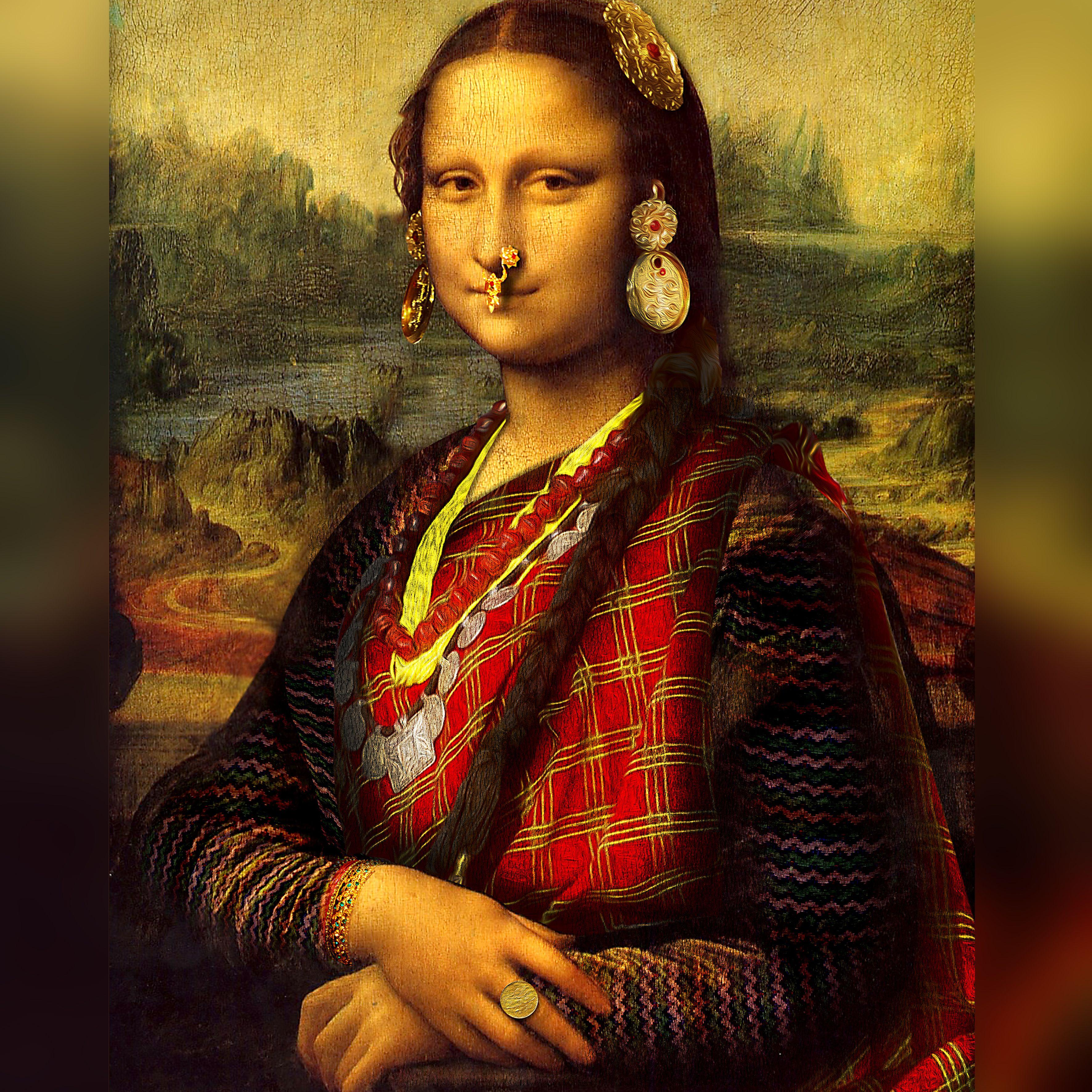 Monalisa Nepali Mona Lisa Mona Woman Painting