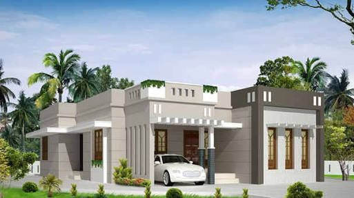 Image Result For Parapet Wall Designs Kerala House Design Flat Roof House Small House Design Plans