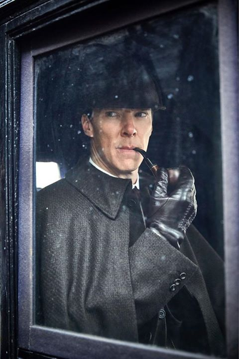 SHERLOCK (BBC/PBS) ~ Sherlock Holmes (Benedict Cumberbatch) in the pre-Season 4 special SHERLOCK: THE ABOMINABLE BRIDE premieres January 1, 2016 on BBC & PBS. [Click for photo gallery.]
