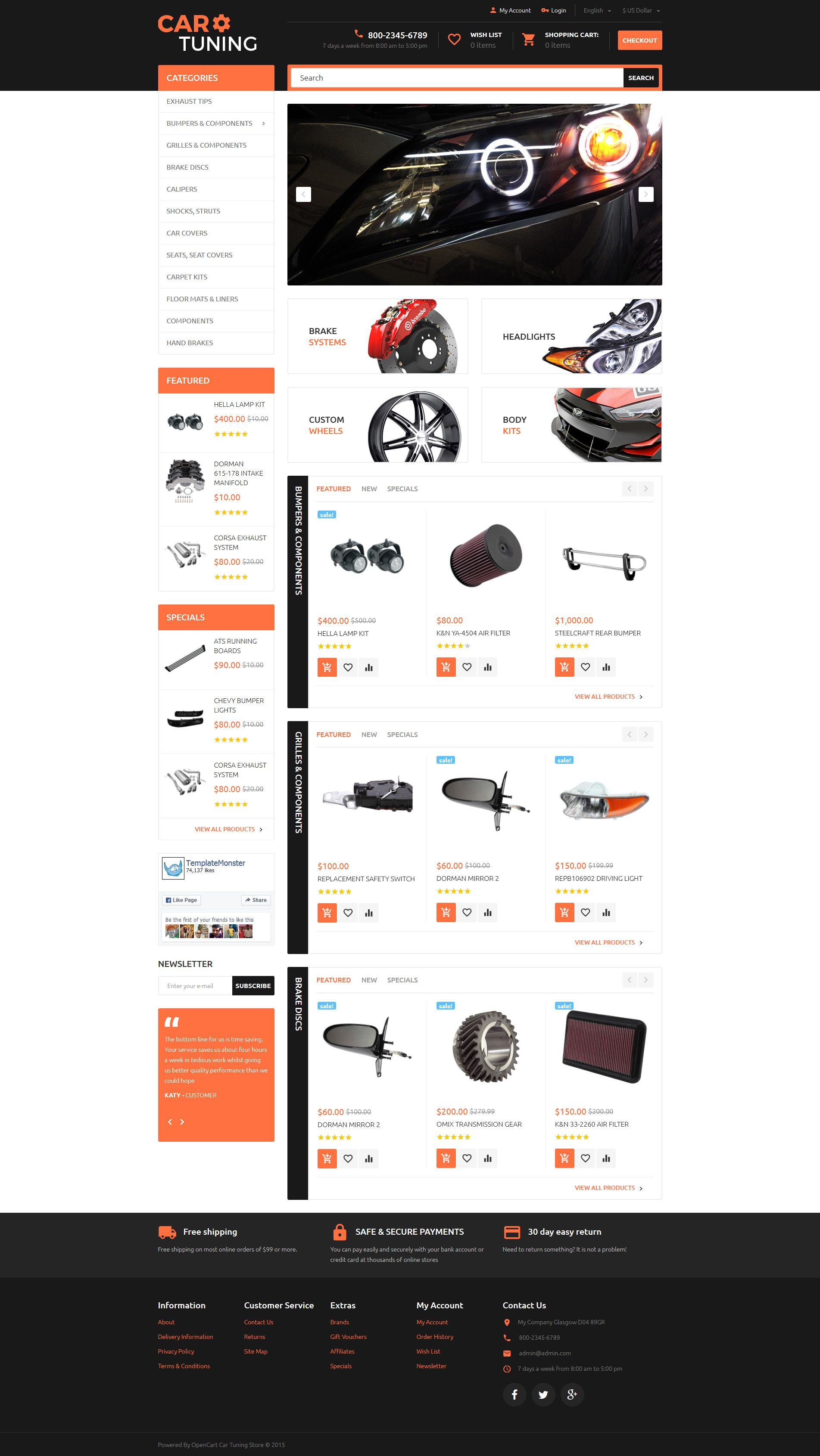 Car Tuning Opencart Template Website Template Pinterest Template