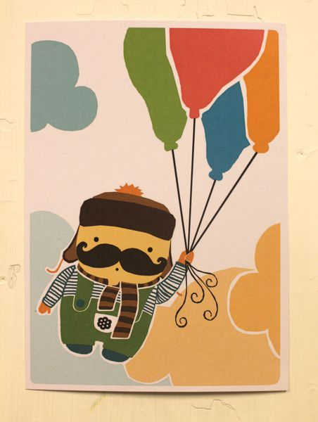 Lennokkaat onnittelut! -postikortti | Mailandia