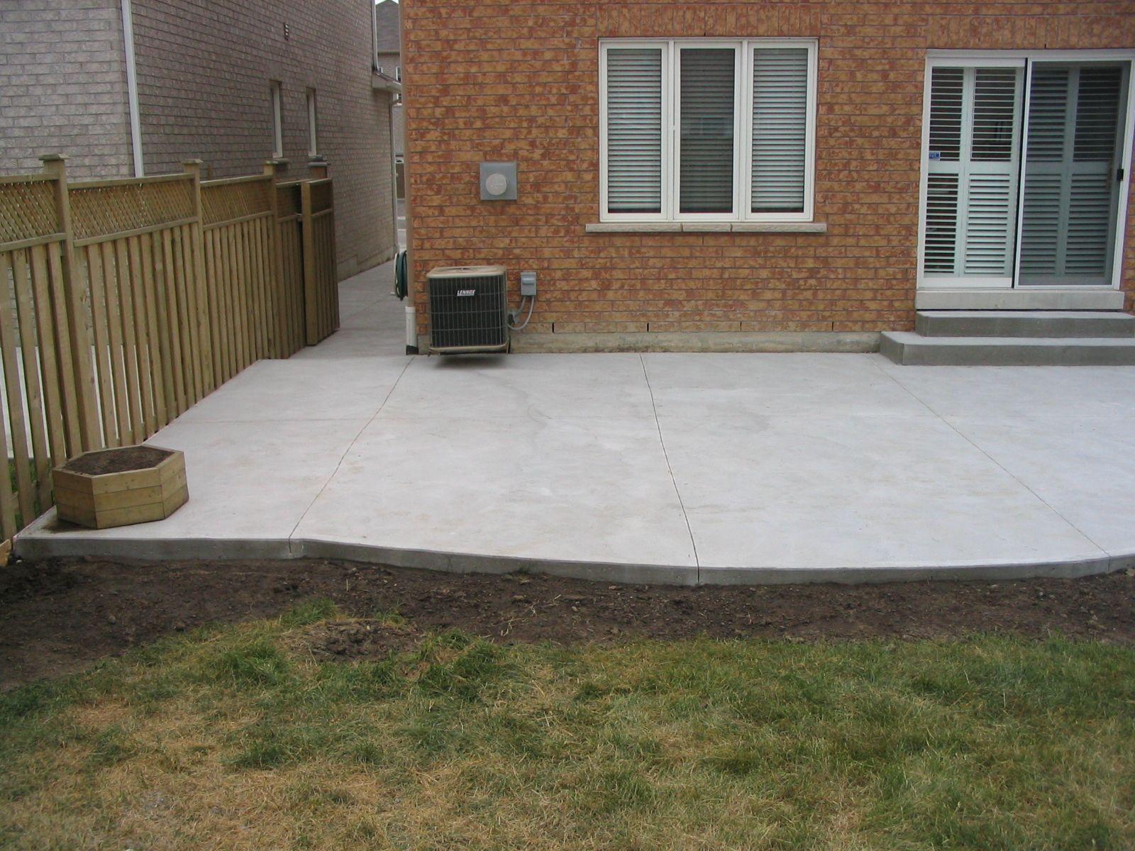 Cement patio designs my concrete patio and walkway for Concrete patio design ideas
