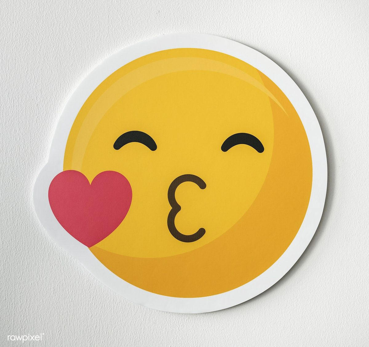 Kissing Face Emoticon Emoji Symbol Free Image By Rawpixel Com Emoji Symbols Emoticon Emoji