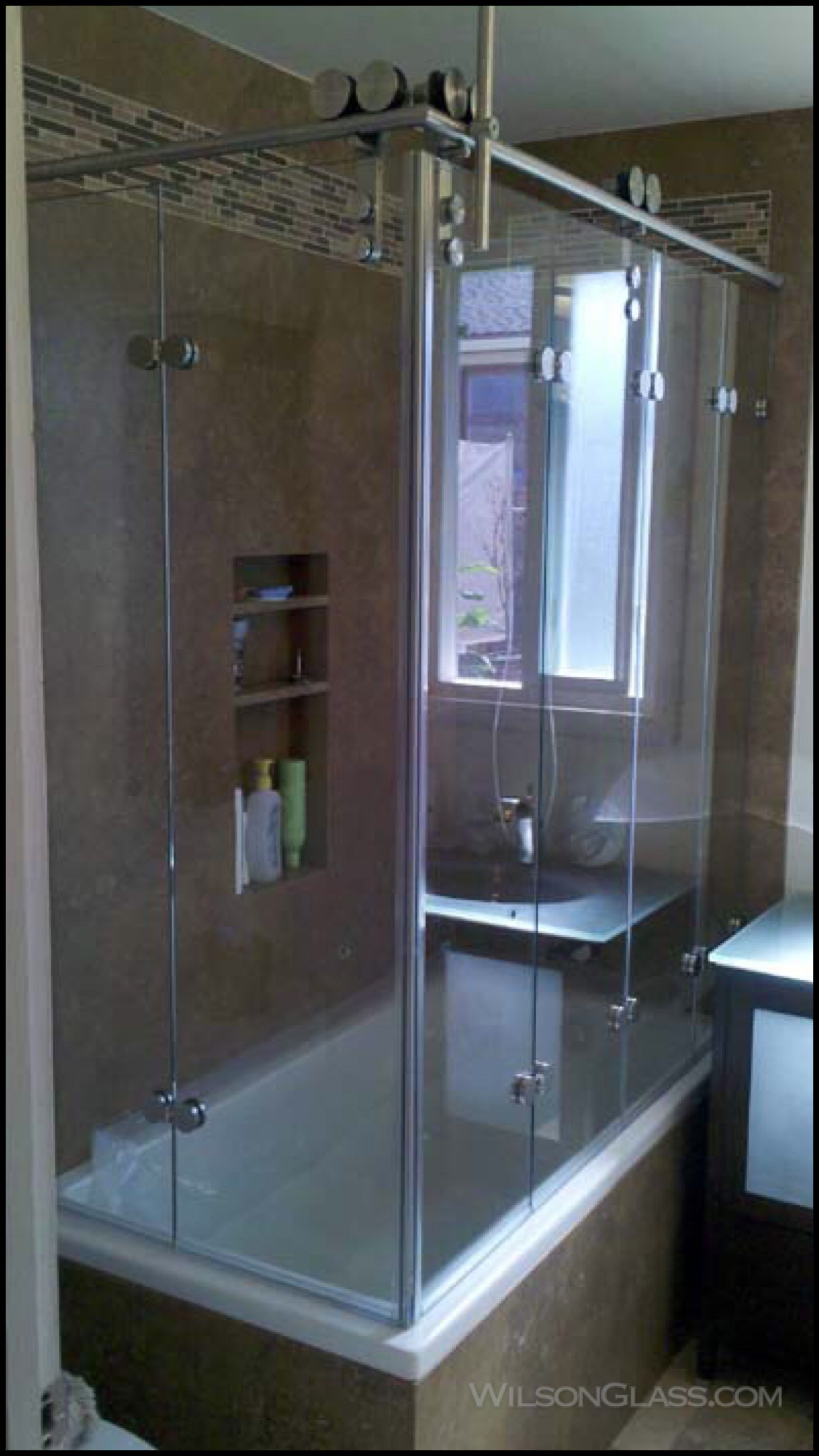 Double Folding Shower Doors With 4 Panel Wilson Bi Fold Shower