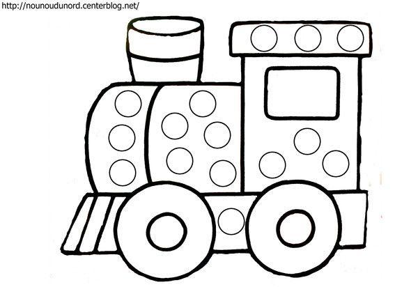 coloriage gommettes le train dessin par nounoudunord imprimer le coloriage grand format en fichier