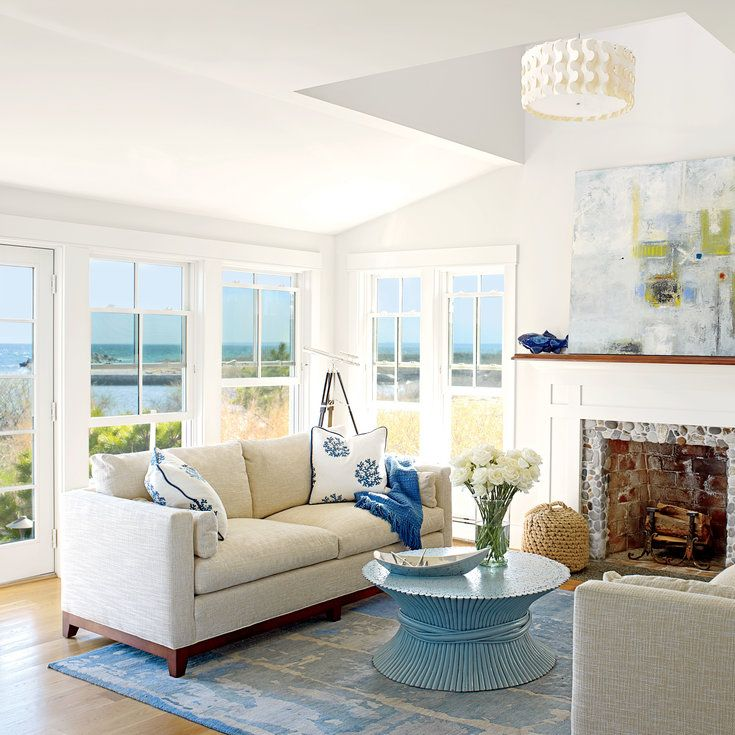 48 Living Rooms with Coastal Style Coastal living rooms