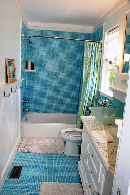Residential Shower Surround In Glacier Blend Glass Mosaic Tile From The  Kaleidoscope Colorways Glass Tile Blends