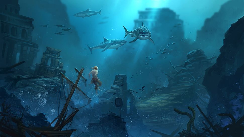 underwater ship graveyard - Google Search