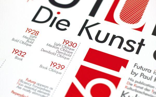 Poster Design - Futura  Paul Renner by Zen Lam, via Behance