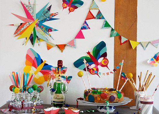 Geburtstagsdeko Aus Papier Diy Love Kinder Geburtstagsideen