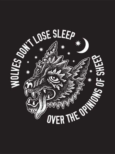 the quote, not the wolf.
