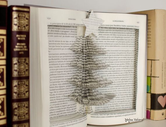 Diy do it yourself tutorial with template for christmas tree book diy do it yourself tutorial with template for christmas tree book sculpture instant download a complete guide which will show you how to create this solutioingenieria Images
