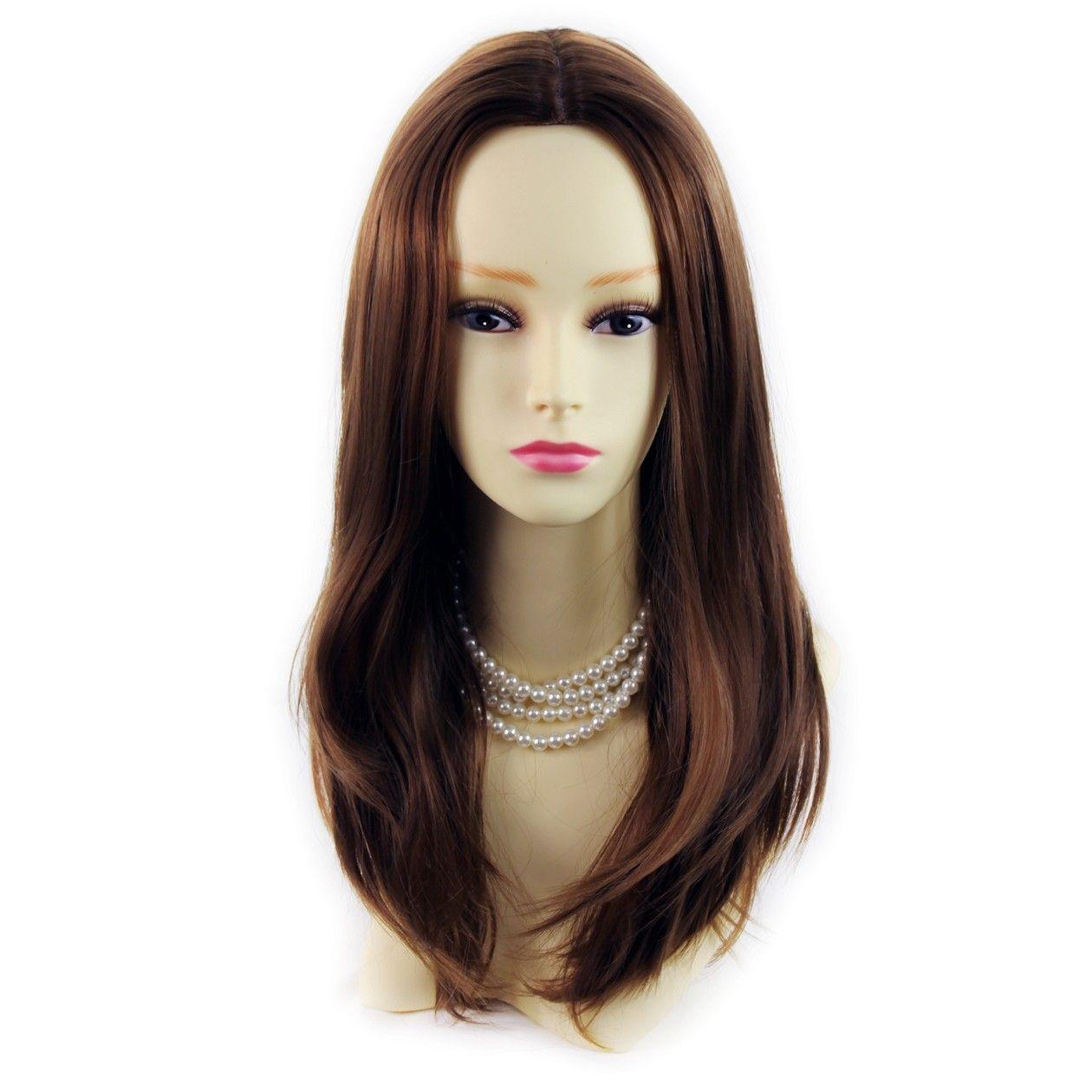Wiwigs Wonderful Long Light Brown Skin Top Straight Ladies Wig Uk Hair Pieces Green Wig Wigs