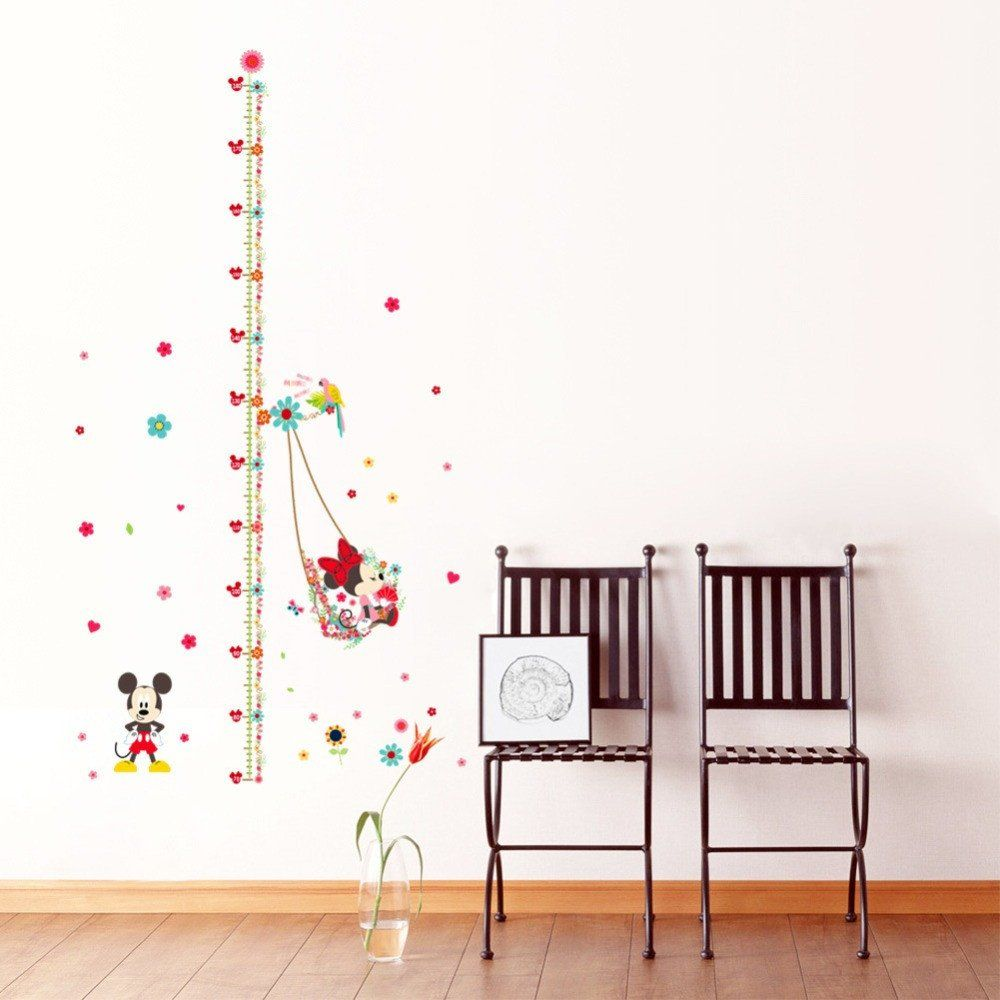 Mickey Minnie Mouse Growth Chart Ruler Wall Sticker Mouse