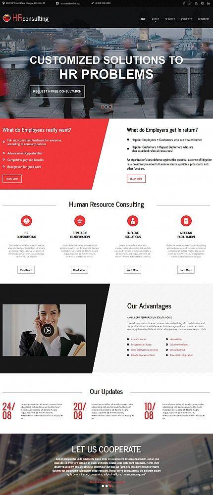 hr consulting website design html web templates pinterest html