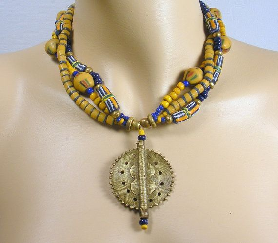 African-american Dating African Ghana Bead And Brass