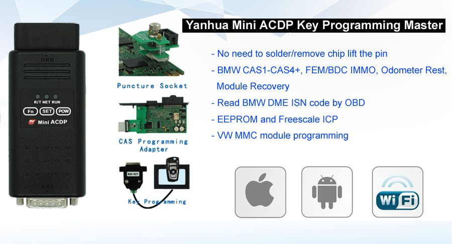 Yanhua Mini ACDP Key Programming Master Wifi Mini ACDP BMW CAS4 key