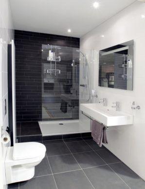 voorbeeld kleine badkamer | Inloop douche | Pinterest