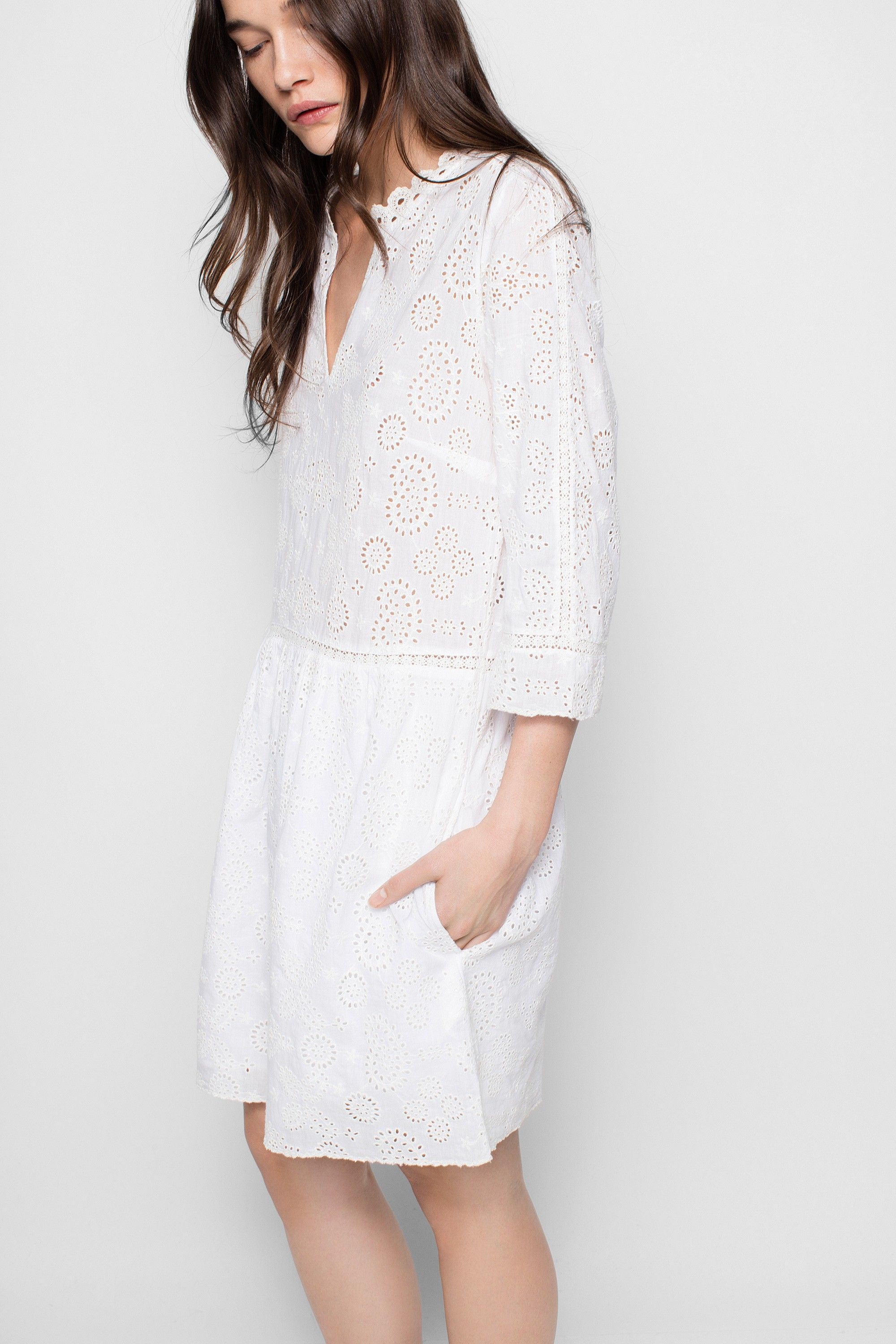 53859dd8f2 Zadig   Voltaire eyelet-embroidered dress