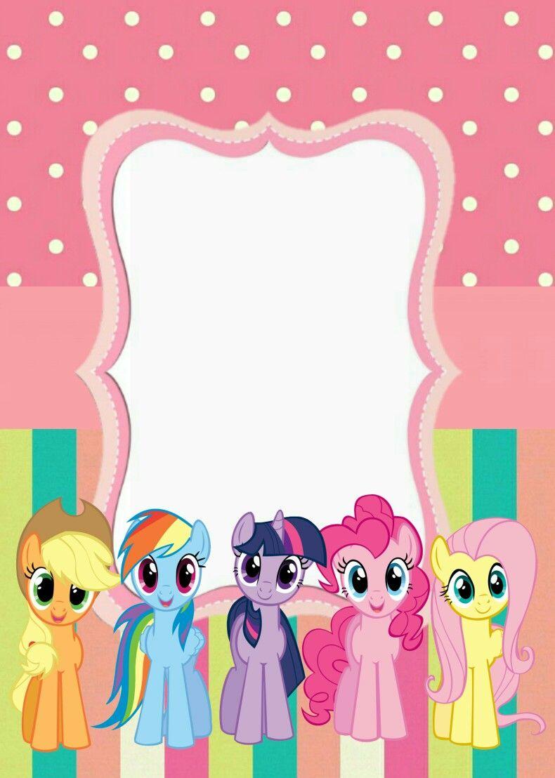 Invitación My Little Pony Invitaciones My Little Pony
