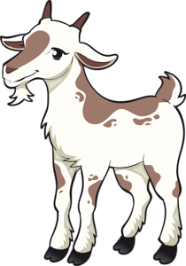 1680 x 2400, 1.17 MB | animals clipart | Goat art, Goat ...