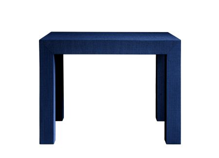 Bungalow 5!  It comes in a coffee tablem a console, and a side table!  Navy Grasscloth furniture!  Double Swoon!