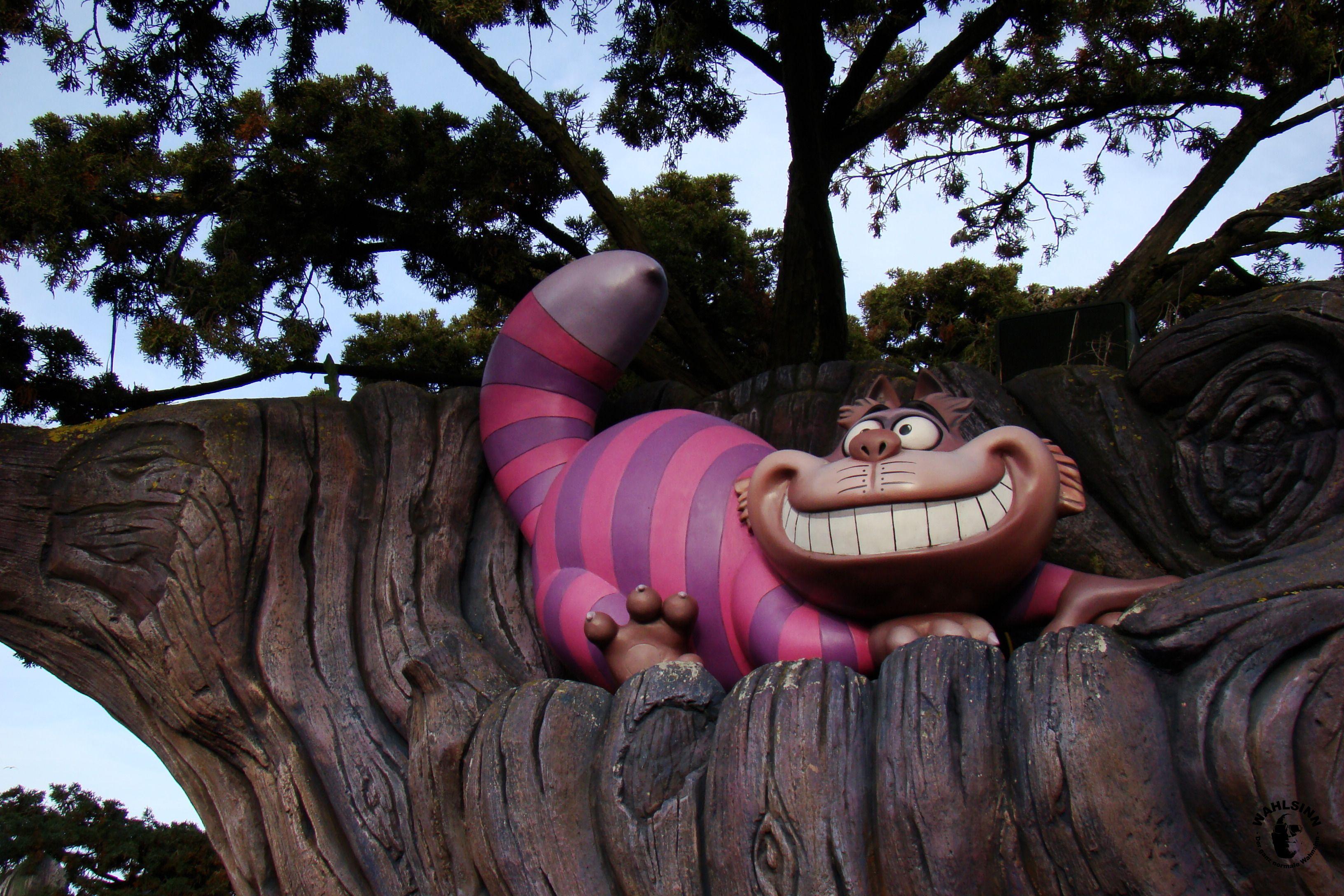 Disneyland Paris - Die Grinsekatze im Irrgarten von Alice im Wunderland