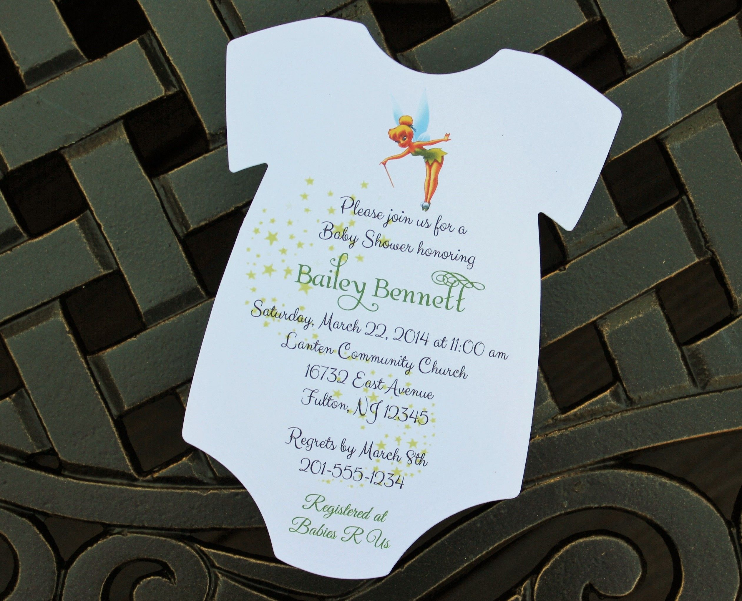 Tinkerbell Baby Shower Invitation by RSVP Custom Creations | Party ...