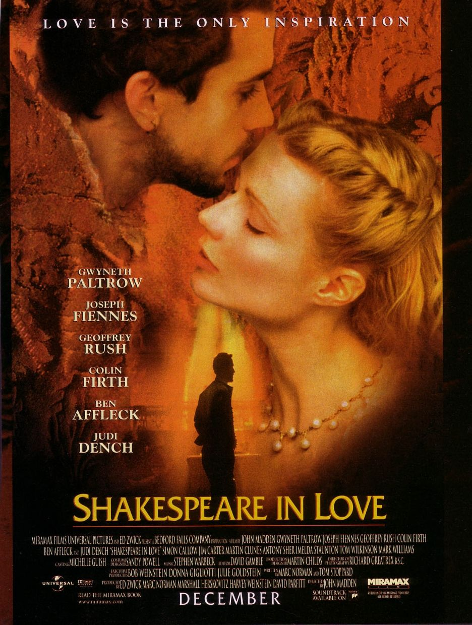 an overview of the film shakespeare in love The shared love amidst themes of mistaken identity, scheming and physical  comedy was that of the 1998 period film shakespeare in love, a.