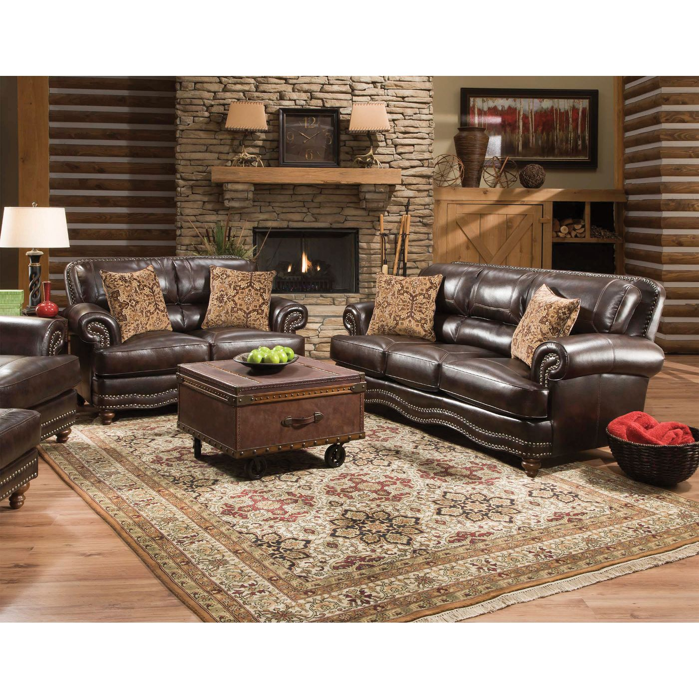 Bentley Living Room - Sofa, Loveseat, Chair & Ottoman (12A)  Love